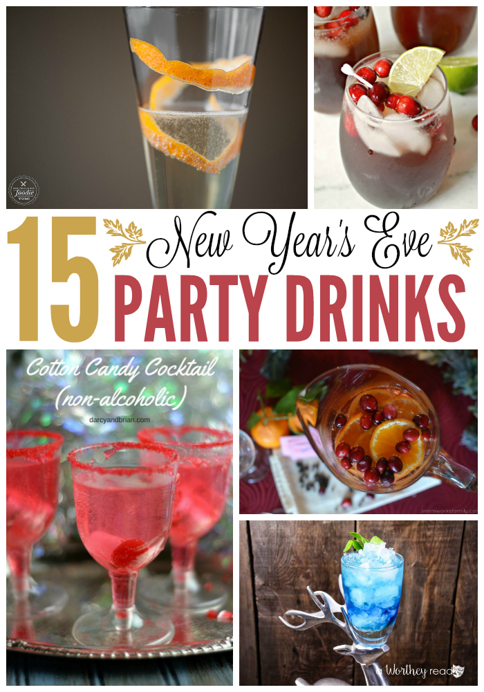 Are you planning a New Year's Eve party? Don't forget to plan your drink menu! There are many choices from champagne to cocktails or even sangria. Find the perfect refreshments to serve while ringing in the New Year with these party drink recipes.