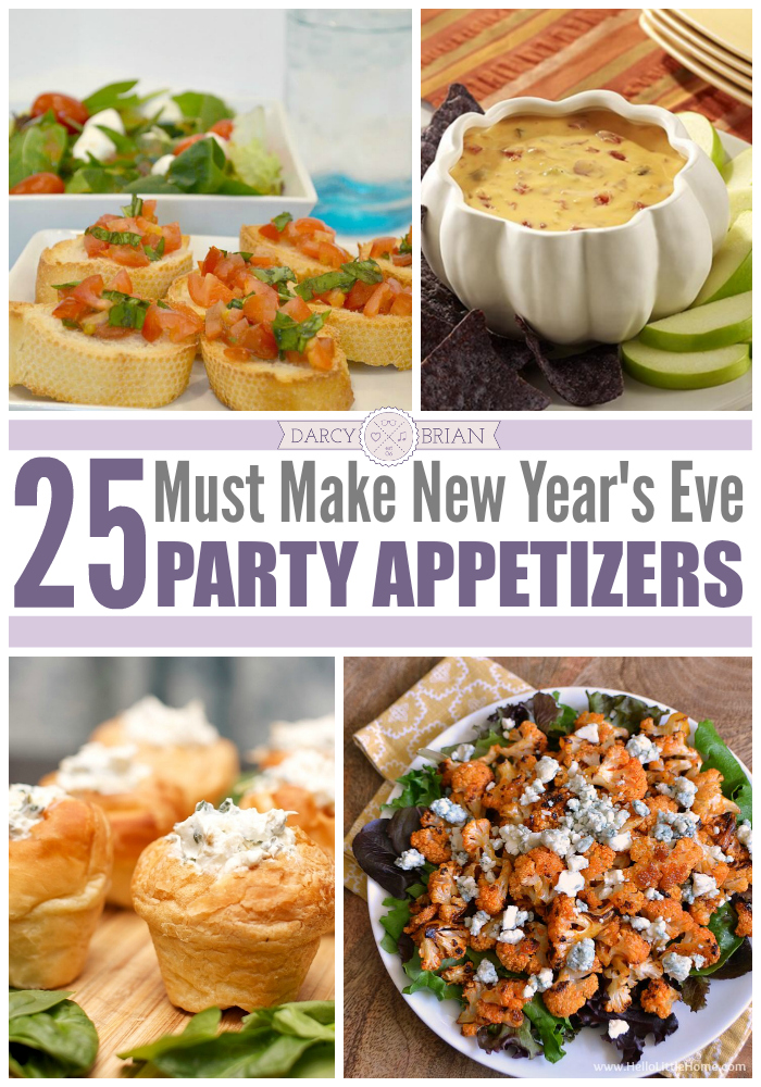 The best way to ring in the New Year is with good friends and good food. Please your guests with these 25 must make New Year's Eve party appetizers.