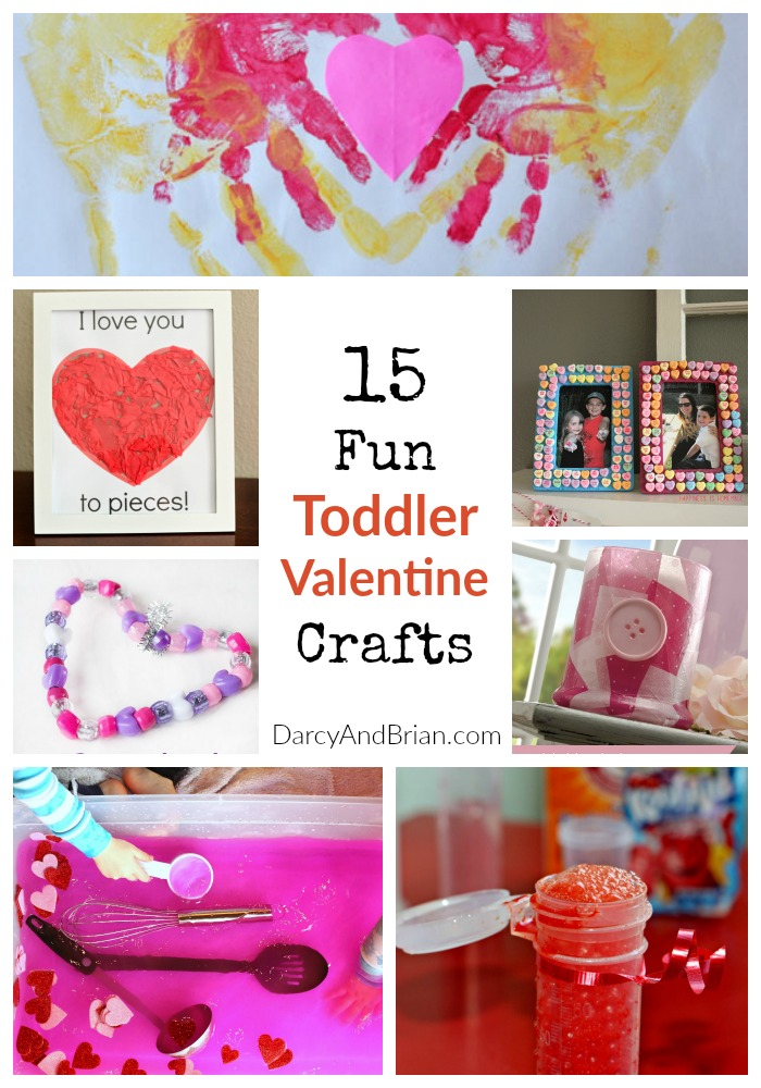 Bored kids? Check out this list of 15 Fun Toddler Valentine Crafts that are cute & easy!