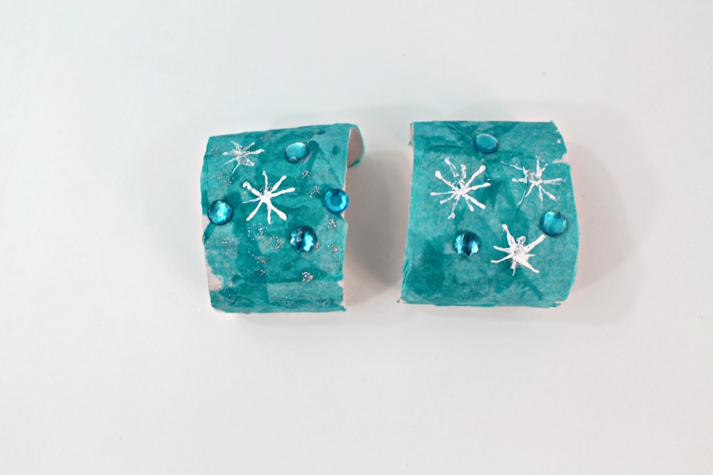 Disney Frozen Paper Roll Bracelets Completed