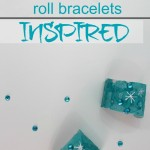 Disney's Frozen Theme Paper Roll Bracelet Craft
