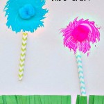 This Truffula Trees kids craft is the perfect activity to go along with reading or watching Dr. Seuss The Lorax. It's also a fun way to paint flowers for spring!