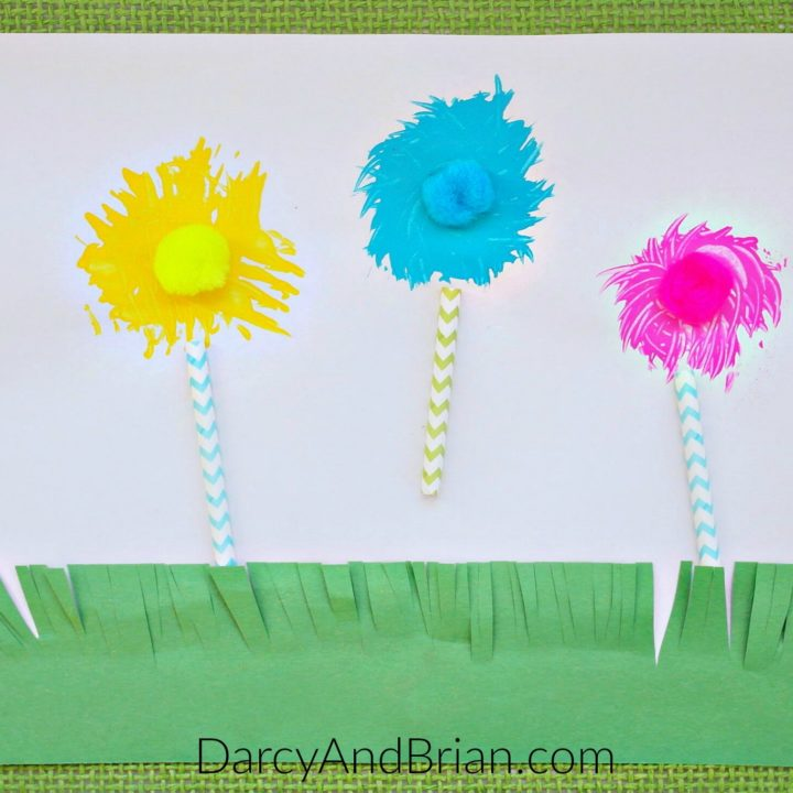 Toddlers and preschoolers will have fun painting with forks. These can be flowers for a spring activity or Truffula Trees for little Dr. Seuss fans.