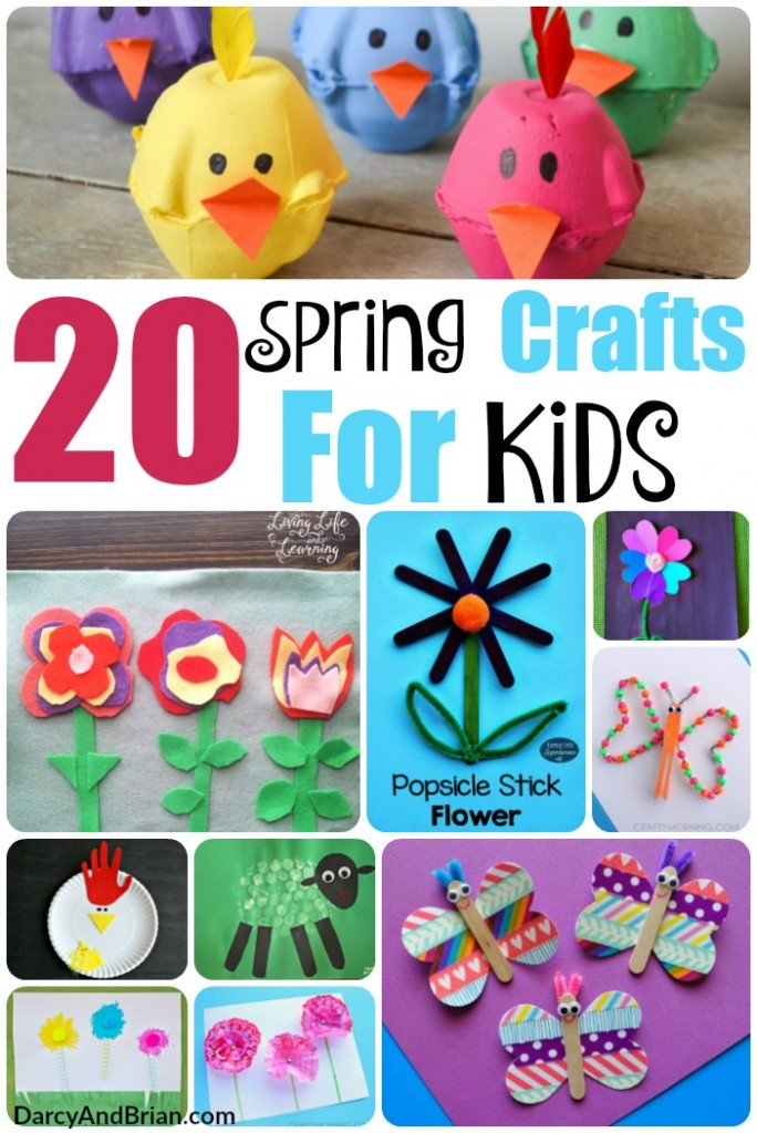 Don't miss our amazing list of 20 Spring Crafts For Kids! Ideal Spring break ideas to keep kids happy and busy!