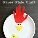 Paper plate crafts for kids are easy to do. Gather up your craft supplies and make this cute mama and baby chicken paper plate craft!
