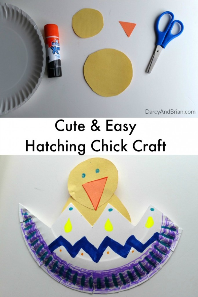 This Hatching Chick paper plate craft for kids is cute and easy to make.