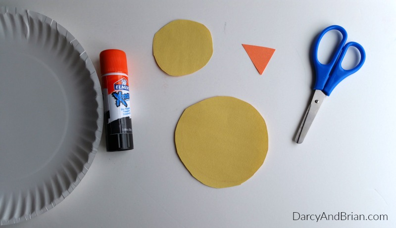 Simple craft supplies are used to make this fun kids craft.