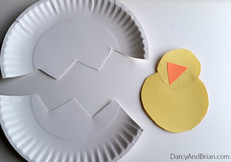 Fun spring crafts for kids hatching chick for Easy things to make out of paper for kids