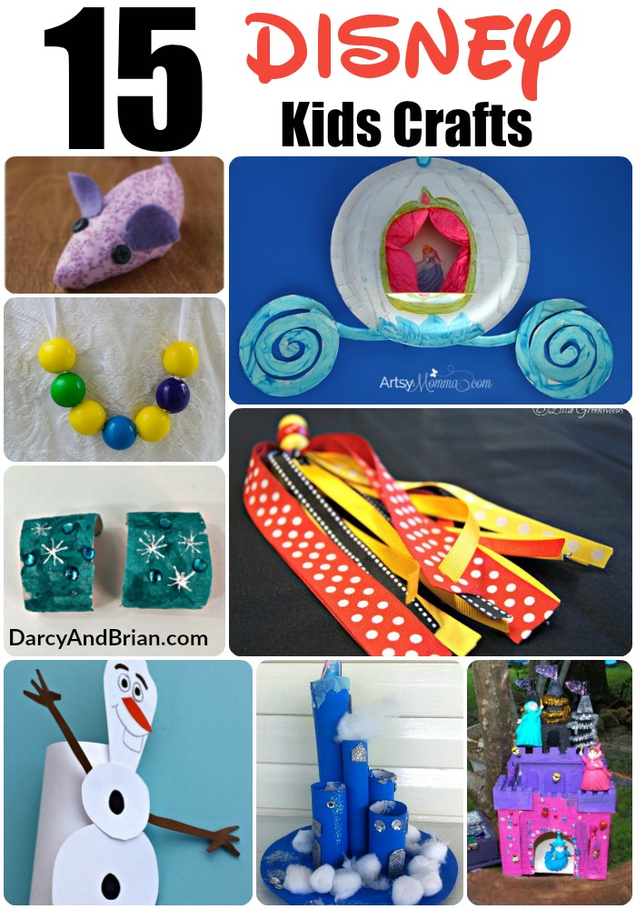 Kids Crafts like these great Disney Themed Kids Crafts are a great way to spend a fun afternoon with your little ones! Share Disney pride and fun today!