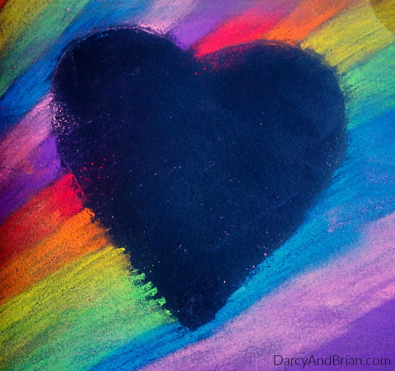 A fun and colorful heart card kids craft tutorial.