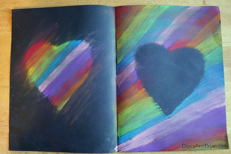 Learn how to make your own heart card craft for kids with pastels.