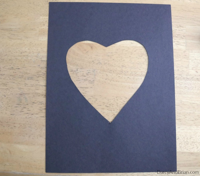 Easily cut out your own heart shaped stencil.