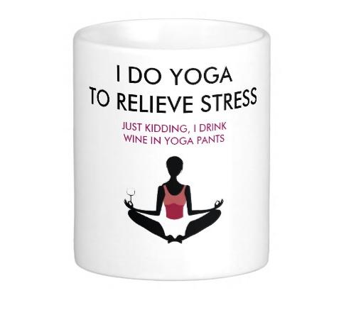 Funny yoga coffee mug from Zazzle