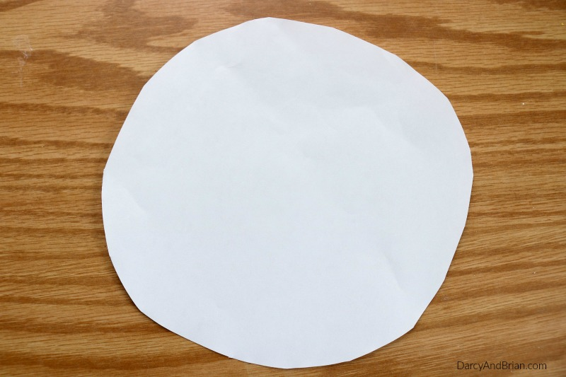 Start this kids craft by cutting out a circle.