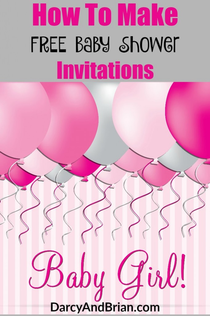 save money with our tips for how to make free baby shower invitations