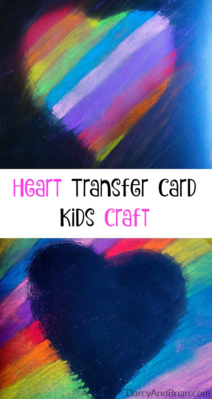 The kids will be excited to help with a Mother's Day gift! This Heart Transfer Mother's Day card is a perfect craft for preschoolers. They will love creating a homemade card for Mom.