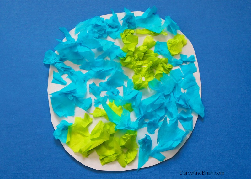 Earth Day Craft Ideas For Kids Part - 46: Learn How To Make A Tissue Paper Earth Craft With The Kids!