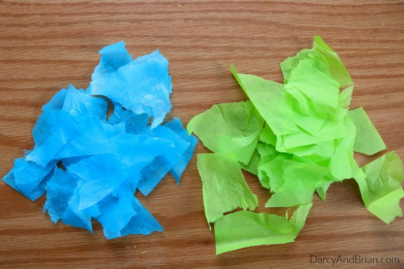 Have the kids rip up tissue paper.