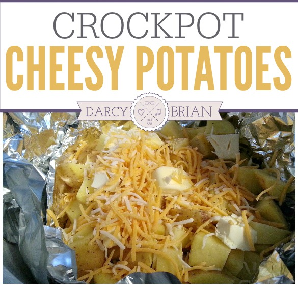 How to make deliciously easy cheesy potatoes in your crock pot or slow cooker