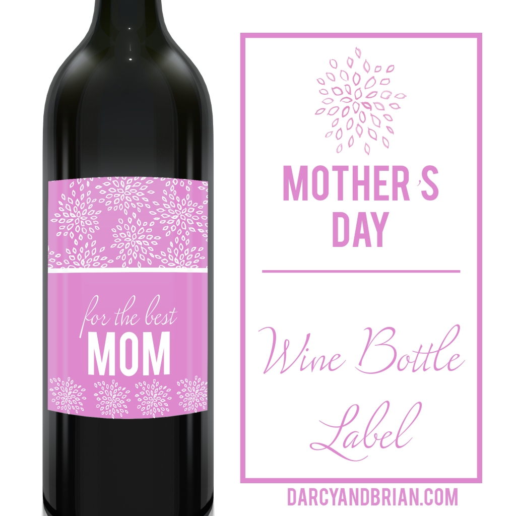 image regarding Free Printable Wine Labels identify 10 Items for Mothers Who Enjoy Wine As well as No cost Wine Label Printable