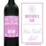 Looking for the perfect gift for a mom who loves wine? Check out these wine accessories plus a free Mother's Day wine label printable.