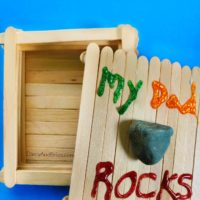 Dad Rocks Keepsake Box Craft