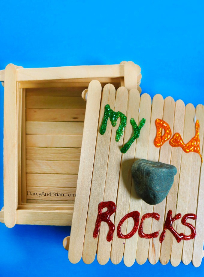 Crafts For Dad: My Dad Rocks Keepsake Box Father's Day Craft For Kids