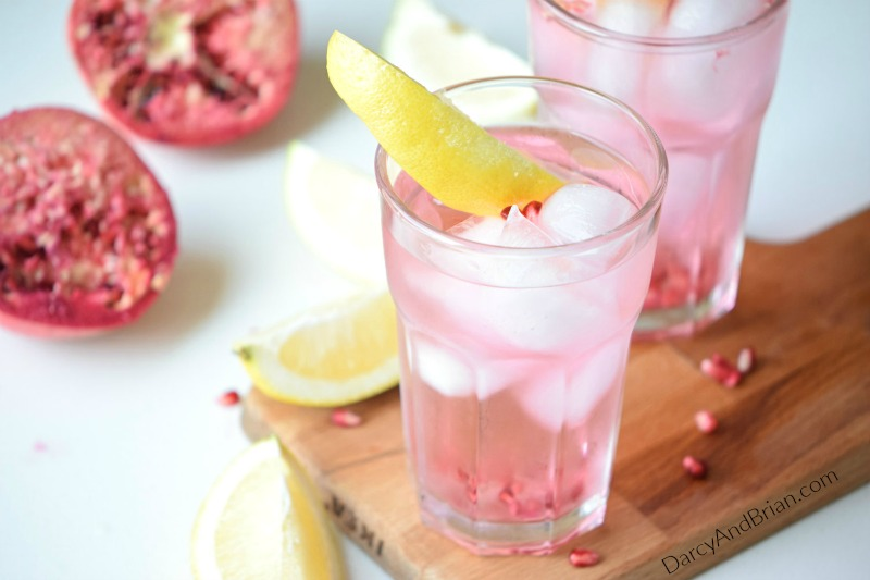 Mix up this refreshing pomegranate lemon drink recipe. It's perfect for summer!