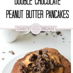 Craving chocolate? Enjoy a sweet start to your day by treating yourself to these Double Chocolate Peanut Butter Pancakes. This pancake recipe is easy to make and is the perfect excuse to have chocolate for breakfast!