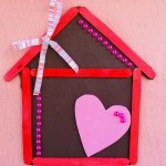 Learn how to make a popsicle stick house magnet. Great craft activity for kids!