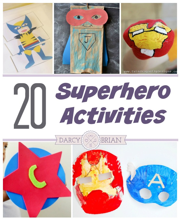 20 Superhero Activities for Kids to Make and Do