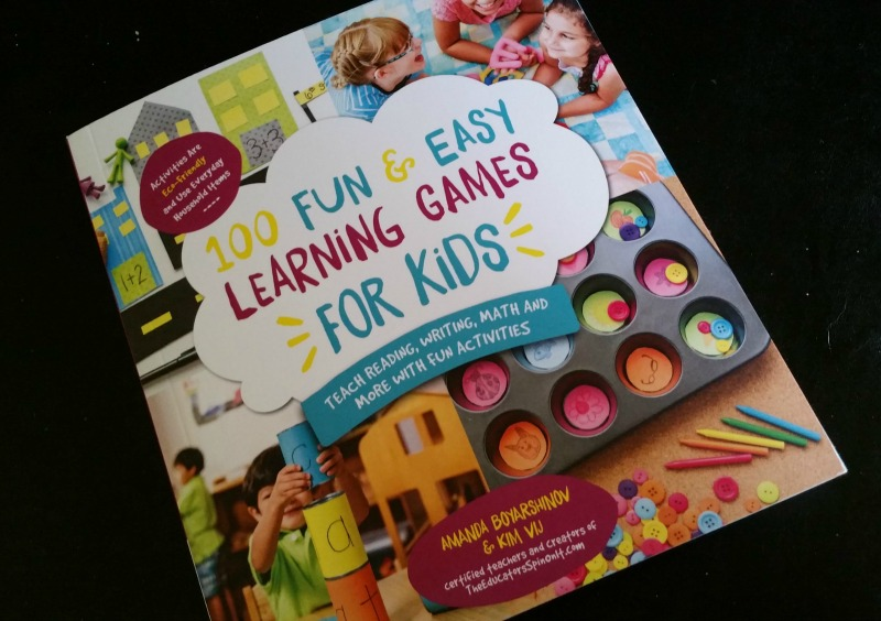 A fun book filled with 100 easy learning games for kids. These activities use a lot of household items.