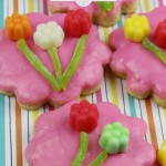 Looking for an easy sugar cookie recipe? Make these delightful Juju Flower Sugar Cookies! They are the perfect treat for a fairy party. Brighten someone's day with these delicious homemade sugar cookies.