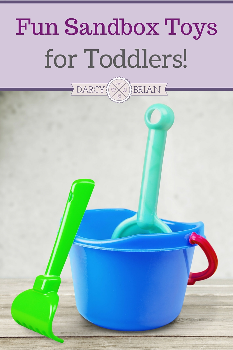 Looking for ways to keep your toddler entertained this summer? Get outside and have a blast with fun outdoor sandbox toys. Stuck indoors? Get creative and find ways to play with them inside too!
