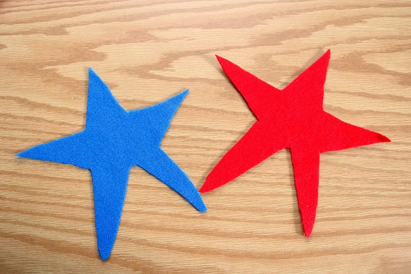 Cut out stars for patriotic craft for kids.