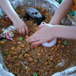 Homemade play dirt is a fantastic play based learning activity.