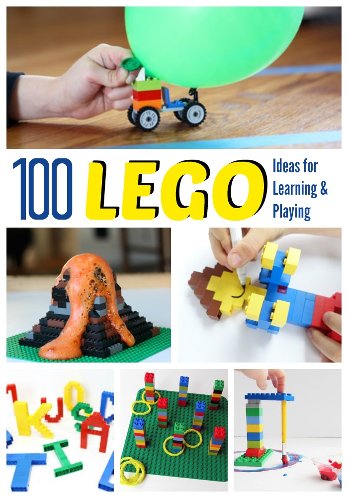 Keep kids busy with these LEGO learning activities! They'll love going beyond free building. Great way to make math, science, and reading fun instead of boring. Perfect indoor activities for rainy days!
