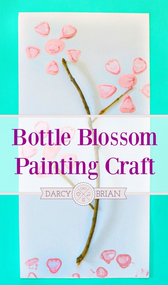 The kids will have a blast using empty bottles to paint with and make flower blossoms. Kids crafts can be simple and use items from your house or yard!