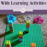 Keep kids busy with these LEGO learning activities! They'll love going beyond free building. Great way to make math, science, and reading fun instead of boring. Perfect indoor activities for rainy days or snow days. (OK, so these are a blast all year round.) Easily incorporate these ideas into a homeschool curriculum too!