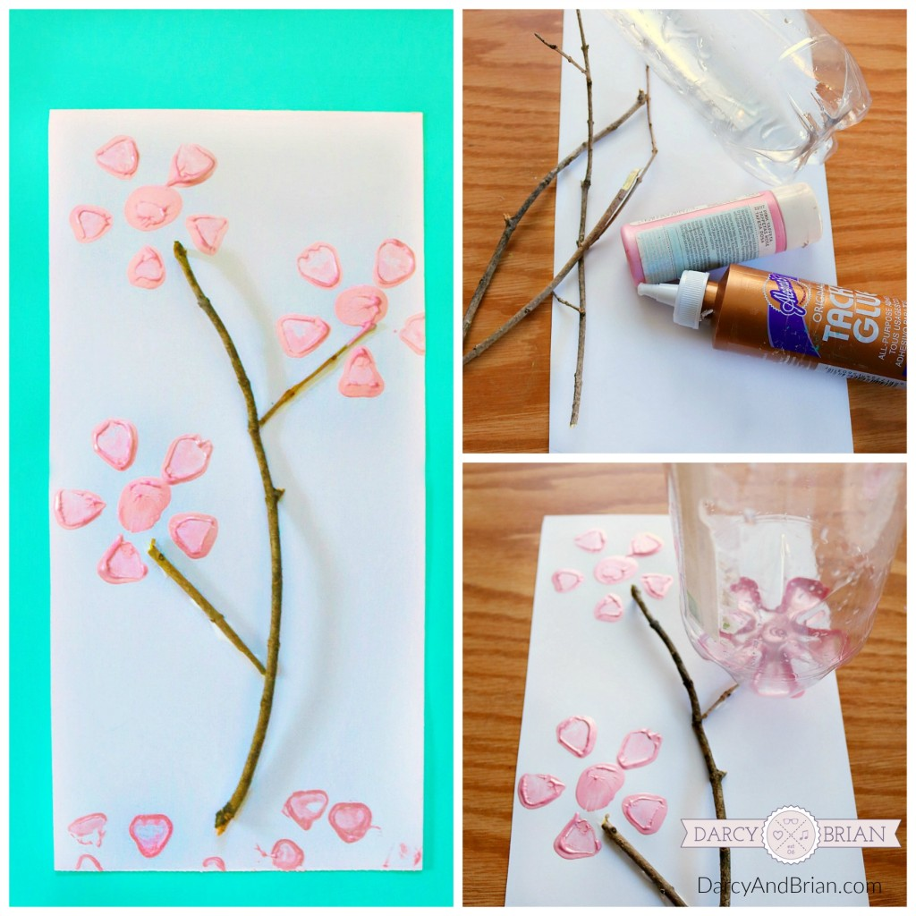 Looking for a low cost craft for kids? The recycling bin is a great place to start for kids crafts! Learn how to make this easy soda bottle flower print with a few items from around the house and yard.