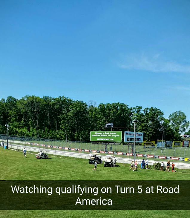 Watching the qualifying race on Turn 5 at Road America.