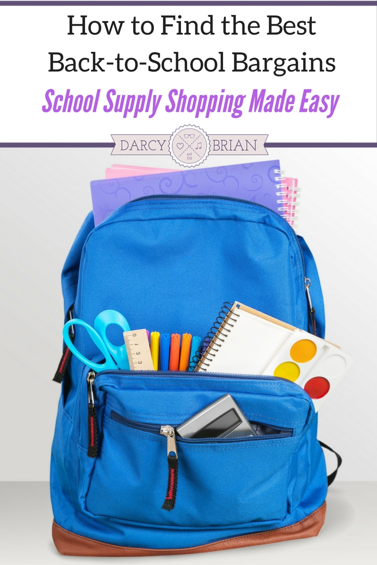 Stressed about shopping for school supplies? Don't be! Get tips on how to save your sanity while finding fantastic back to school bargains to keep school spending within your budget.