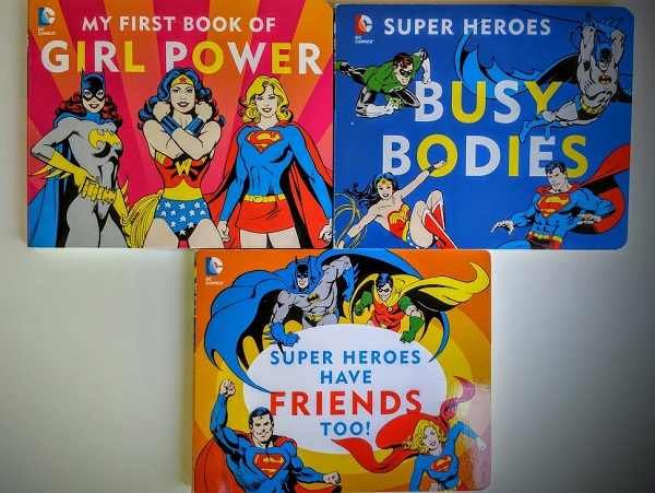 DC Comics Board Books are perfect for toddlers dreaming about being superheroes!