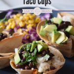 Looking for a quick and easy appetizer? This Black Bean Avocado Taco Cups recipe is the perfect finger food for dinner or a party! Ready in about 20 mins.