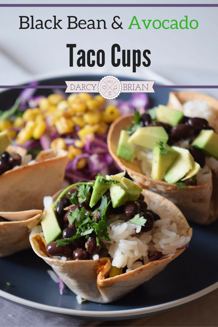 Looking for a quick and easy appetizer? This Black Bean Avocado Taco Cups <a href=