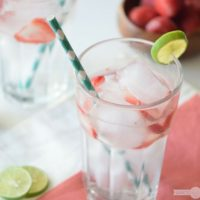 Refreshing Strawberry Lime Spritzer
