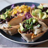 Quick and Easy Black Bean Avocado Taco Cups