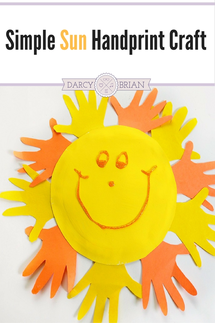 Looking for fun and easy preschool crafts to do at home? Make a handprint sun paper plate craft with your kids using minimal materials. Great for toddlers too!