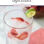 Tired of plain water, but want something different to drink? This refreshing Strawberry Lime Spritzer is a super easy non-alcoholic drink recipe. The best part? You can easy make a single drink or make more for a baby shower, girls night in, or for a birthday party.