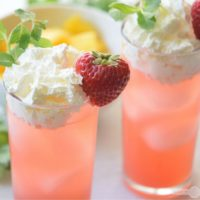 Strawberry and Cream Floats